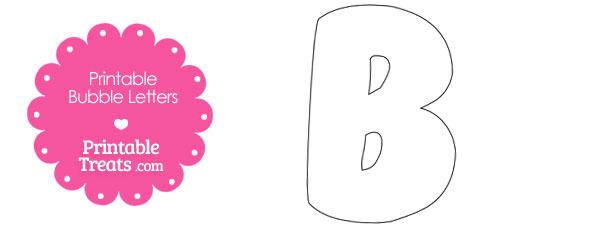 Printable Bubble Letter B Template