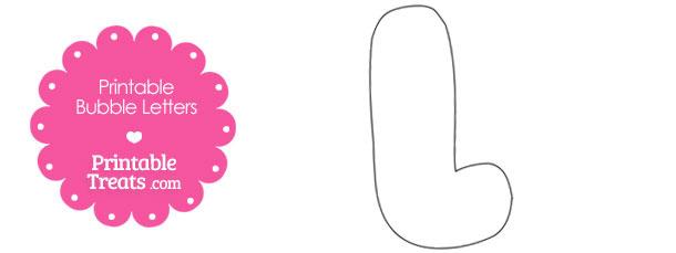 Printable Bubble Letter L Template