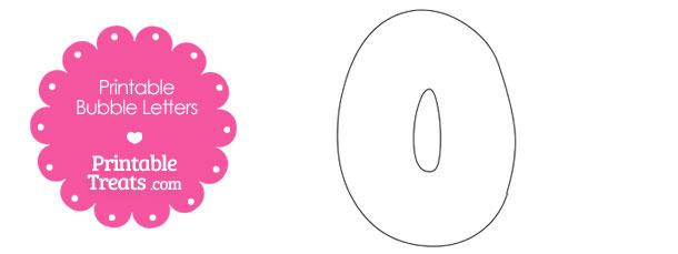 Printable Bubble Letter O Template