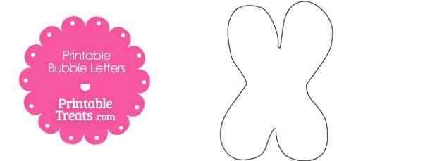 Printable Bubble Letter X Template