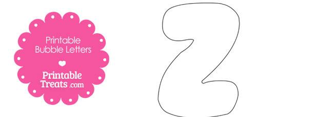 Printable Bubble Letter Z Template