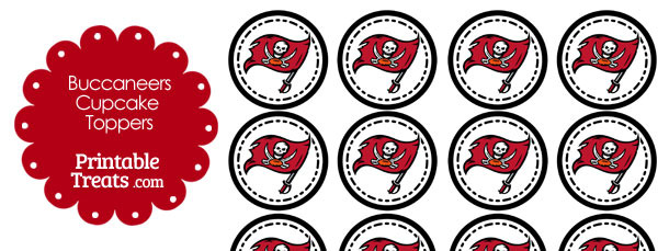 Printable Buccaneers Logo Cupcake Toppers