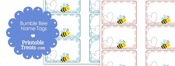 Printable Bumble Bee Name Tags Printable Treats Com