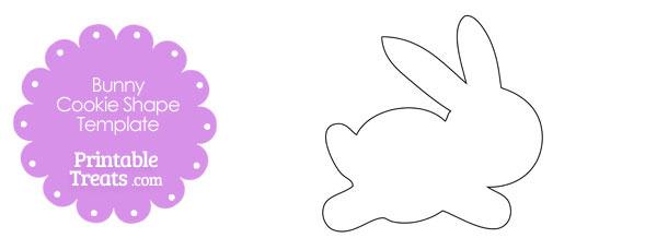 Printable Bunny Cookie Shape Template