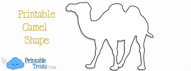 free-printable-camel-shape