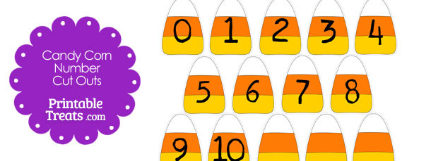Printable Candy Corn Number Cut Outs