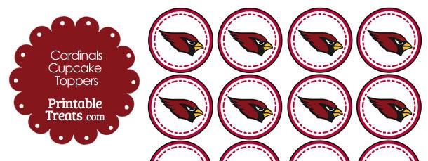Printable Cardinals Logo Cupcake Toppers