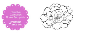 Printable Carnation Flower Template