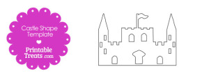 Printable Castle Shape Template