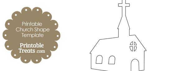 Printable Church Shape Template from PrintableTreats.com