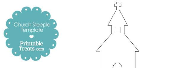 Printable Church Steeple Shape Template