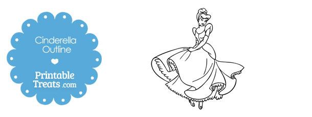 Printable Cinderella Outline