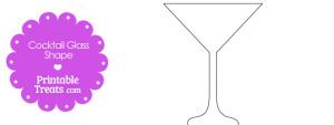Printable Cocktail Glass Outline