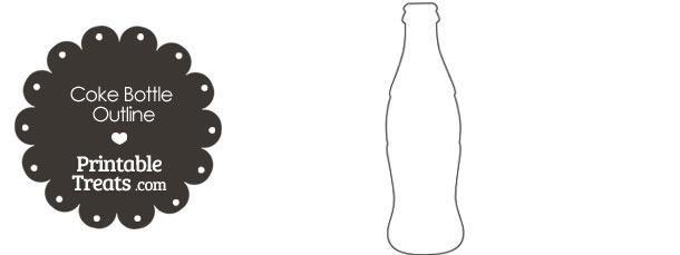 Printable Coke Bottle Outline