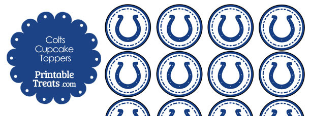 Printable Colts Logo Cupcake Toppers