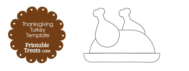 Printable Cooked Turkey Shape Template