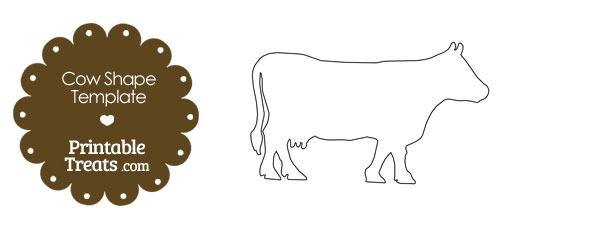 Printable Cow Shape Template