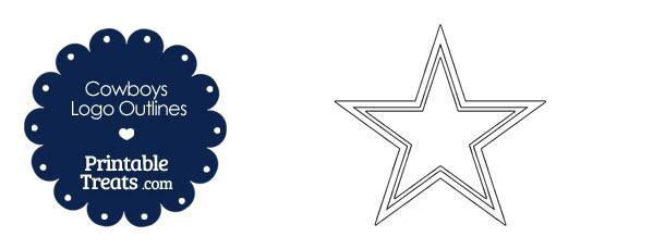 Printable Cowboys Logo Outlines