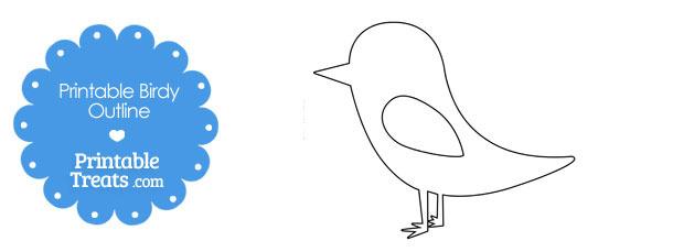 Printable Cute Birdy Outline