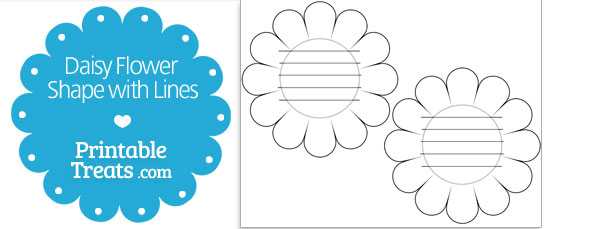 free-printable-daisy-shape-with-lines