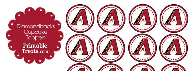 Printable Diamondbacks Logo Cupcake Toppers