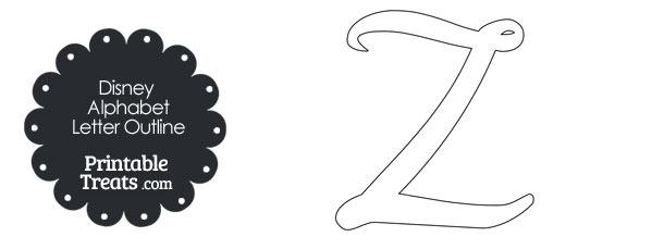Printable Disney Letter Z Outline