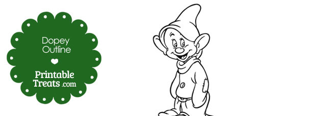 Printable Dopey Outline