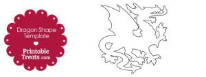 Printable Dragon Shape Template