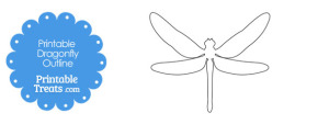 Printable Dragonfly Outline