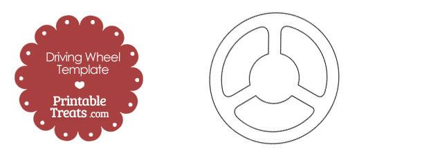 Printable Driving Wheel Template