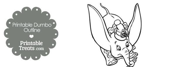 Printable Dumbo Outline
