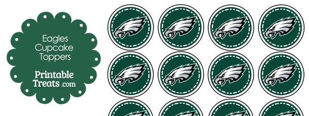Printable Eagles Logo Cupcake Toppers