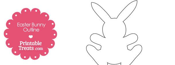 Printable Easter Bunny Outline