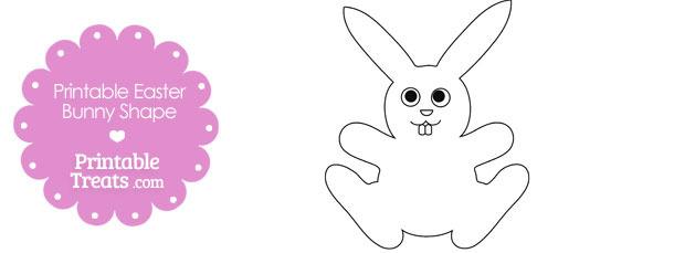 Printable Easter Bunny Shape