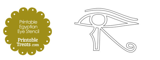 Printable Egyptian Eye Stencil