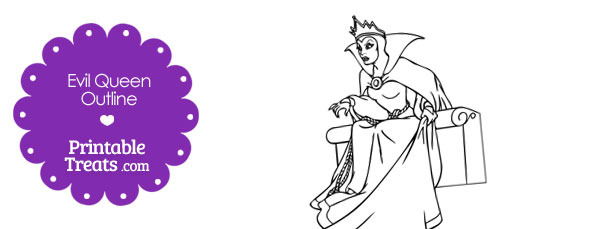 Printable Evil Queen from Snow White Outline
