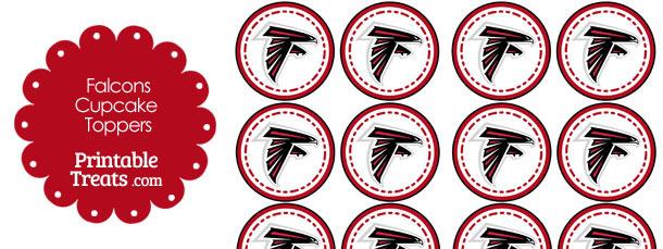 Printable Falcons Logo Cupcake Toppers