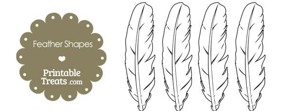Printable Feather Shape Templates Printable Treats Com