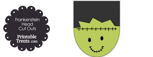 Printable Frankenstein Head Cut Outs