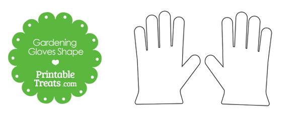 Printable Gardening Glove Shape