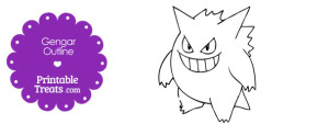 Printable Gengar Outline