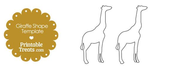 Printable Giraffe Shape Template