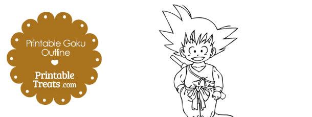 Printable Goku Outline
