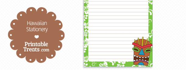 free-printable-green-hawaiian-stationery