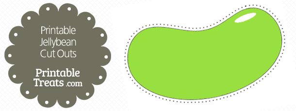 free-printable-green-jellybean-cut-outs