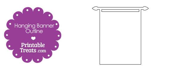 Printable Hanging Banner Outline