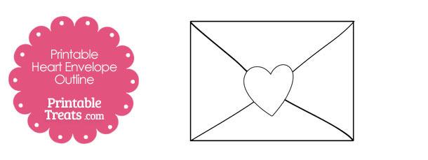 Printable Heart Envelope Outline