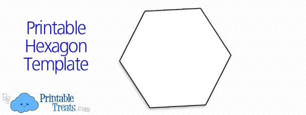 Number Names Worksheets hexagon printable template : Printable Hexagon Template — Printable Treats.com