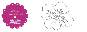 Printable Hibiscus Flower Stencil