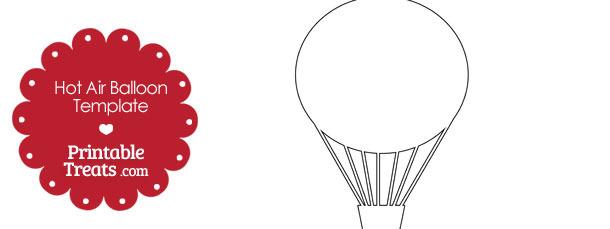 Printable Hot Air Balloon Template